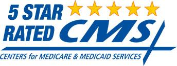 Logo for 5 Star Rated CMS, Centers for Medicare & Medicaid Services
